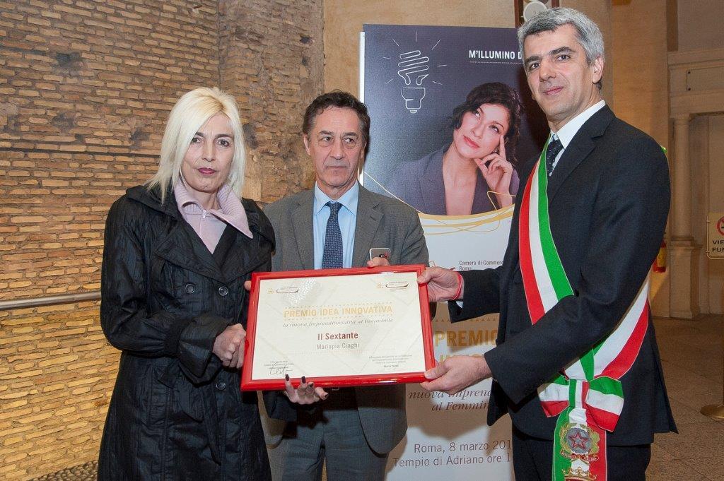"""Mariapia Ciaghi, CEO e Founder de Il Sextante, riceve il """"Premio idea innovativa, la nuova imprenditorialità al femminile"""" 2017"""