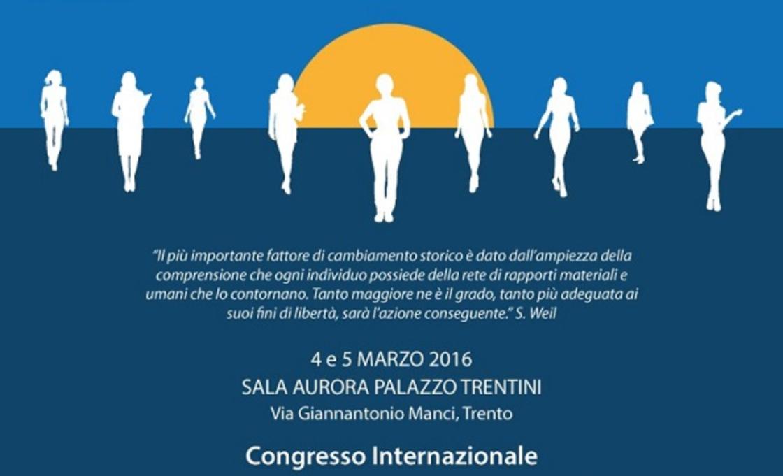 The emancipation of women in institutions and society. A Trento il convegno promosso da Associazione Culturale Aurora e la casa editrice Il Sextante.