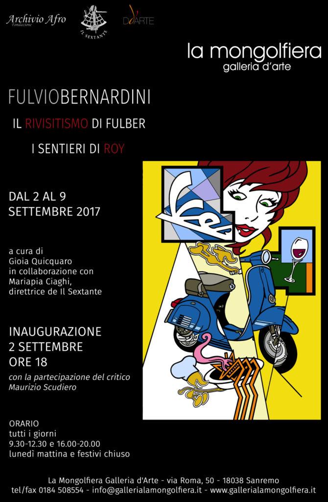 Fulber e il suo Rivisitismo, in mostra a Sanremo alla Galleria d'Arte La Mongolfiera dal 2 al 9 settembre 2017
