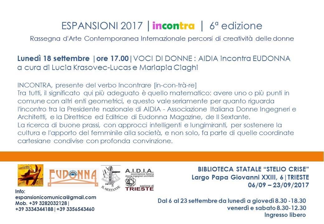 VOCI DI DONNE a incontra I ESPANSIONI 2017