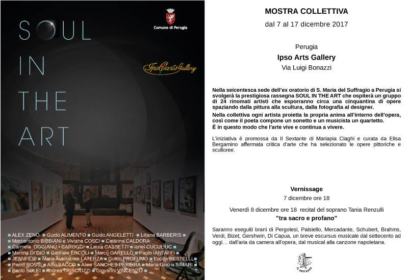 Soul in the Art. La mostra collettiva a Perugia, locandina