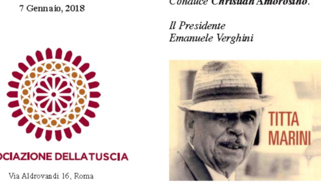 Celebrazione del poeta Titta Marini