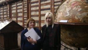 Lucia Marchi, Direttrice della Biblioteca Casanatense, e Mariapia Ciaghi, CEO e Founder de Il Sestante