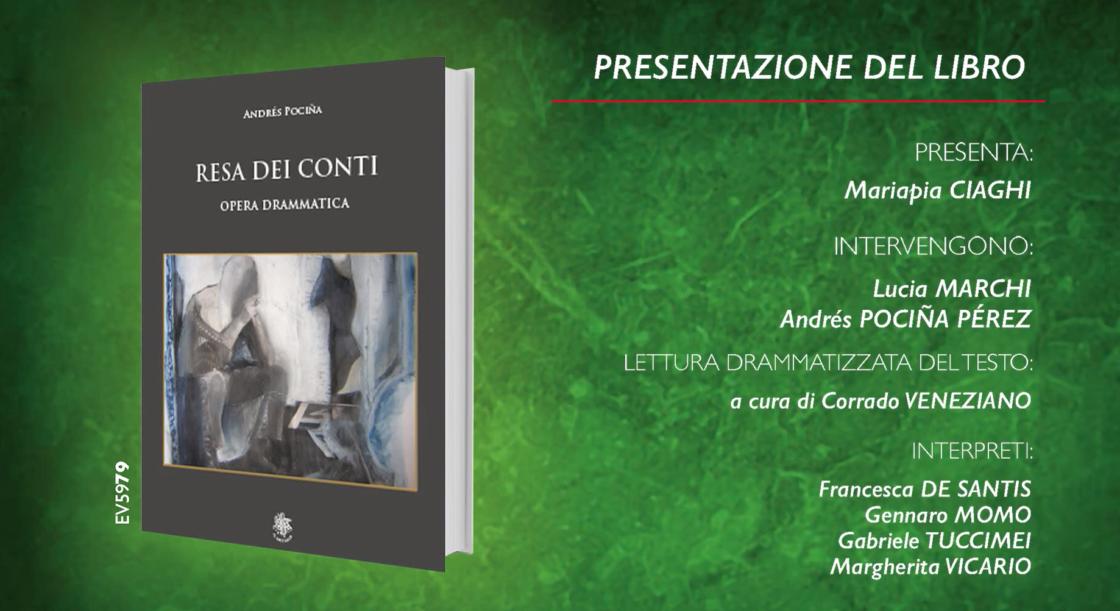 """Il Sextante, in collaborazione con la biblioteca Casanatense, presenta """"Resa dei conti"""" opera drammatica dell'autore Andrés Pociña."""