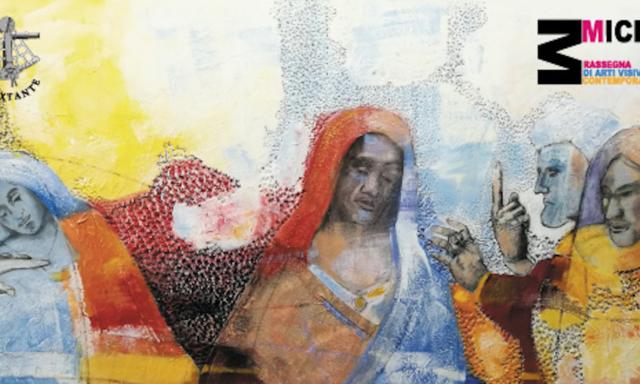 ECCE HOMO, evento dedicato a Leonardo Da Vinci organizzato da Il Sextante e Micro Arti Visive, locandina di Jeanfilip.